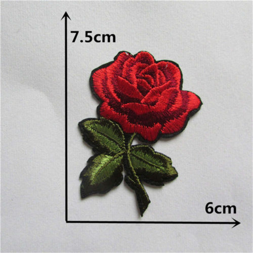 Embroidered Patches Rose Flower Design