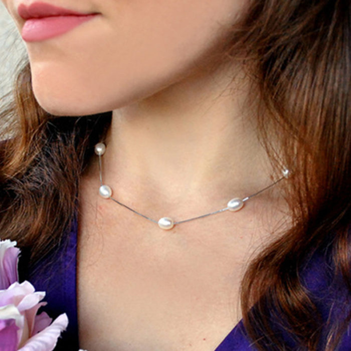 Real Pearl Necklace Women's Jewelry