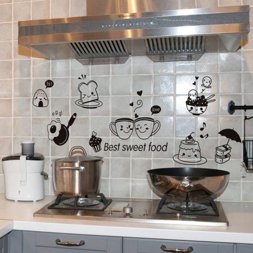 Kitchen Wall Art Food Stickers