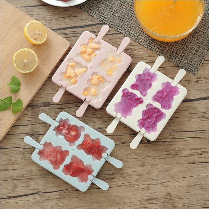 Ice Cream Molds Bear Pattern