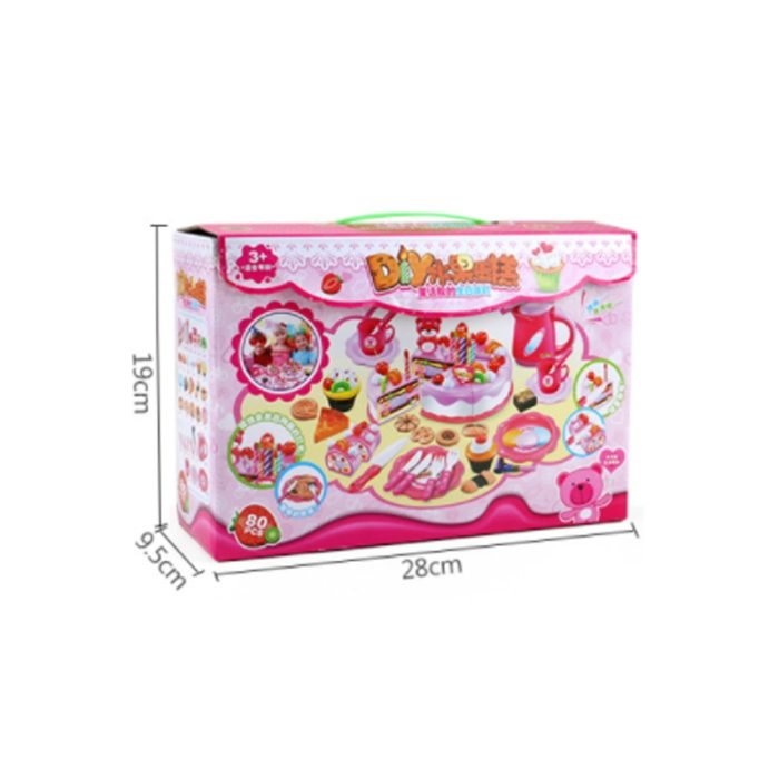 Toy Kitchen Set Cutting Birthday Cake