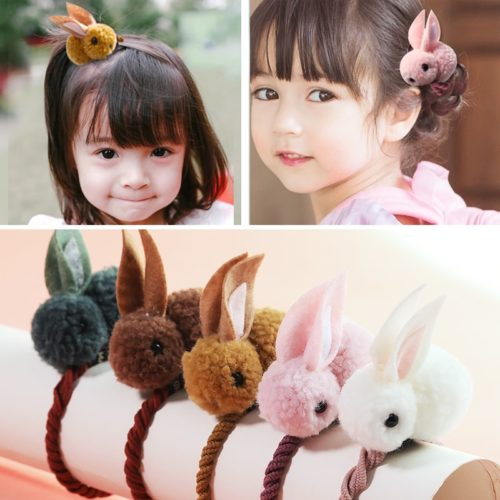 Hair Ties Felt Bunny Design