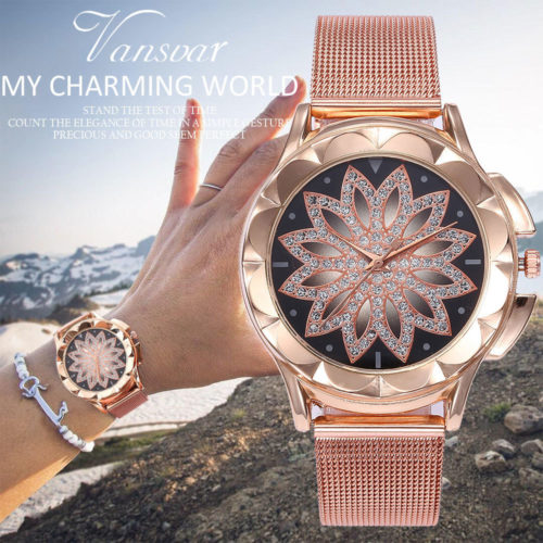Rose Gold Watch Women's Accessories