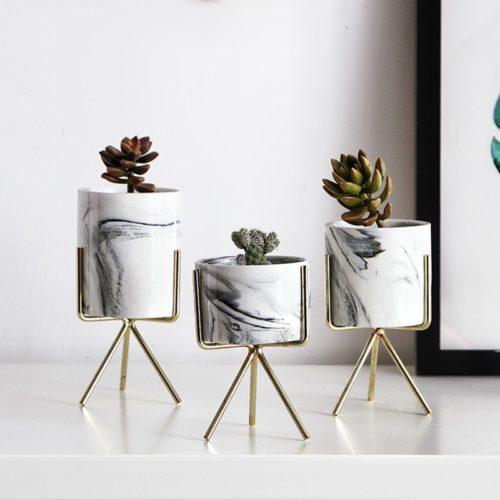 Indoor Pots Nordic Marble Design