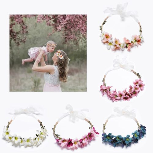 Floral Headbands Kids Hair Accessories