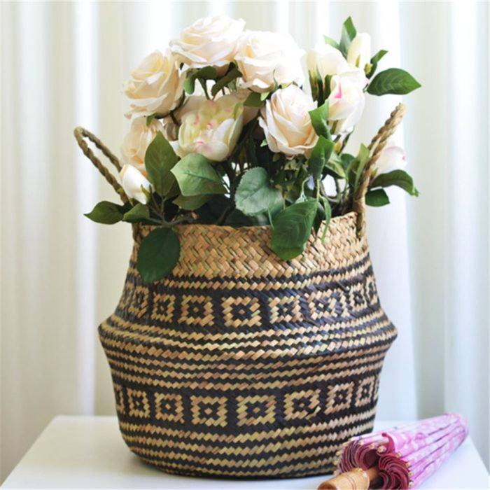 Seagrass Baskets Straw Home Decor