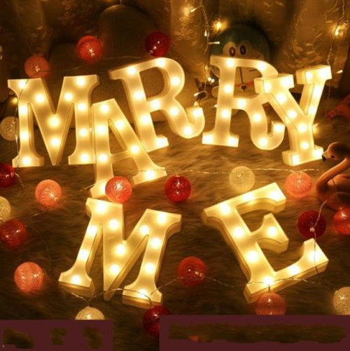 Marquee Letters LED Party Decors