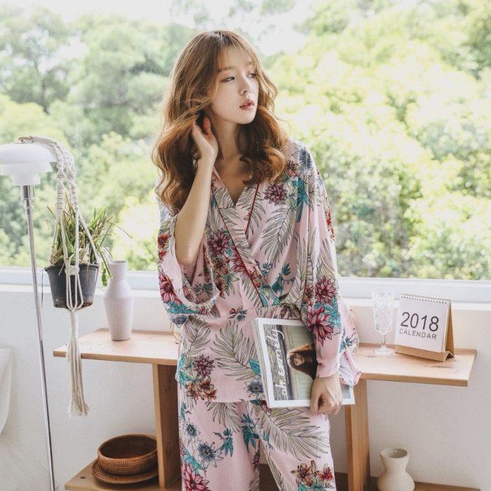 Pyjama Sets Elegant Ladies Sleepwear