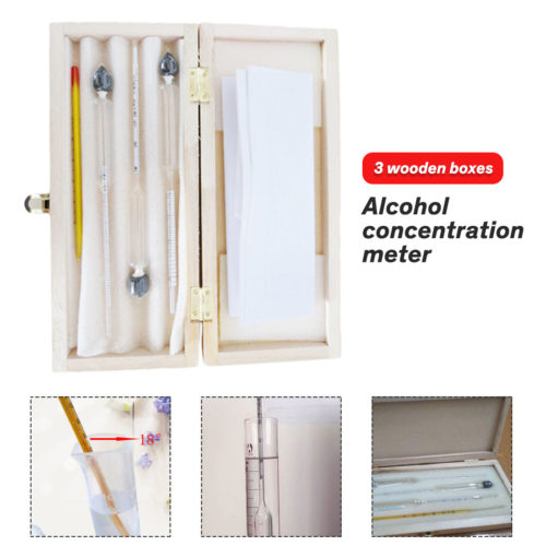 Alcohol Meter with Thermometer 3PC Set