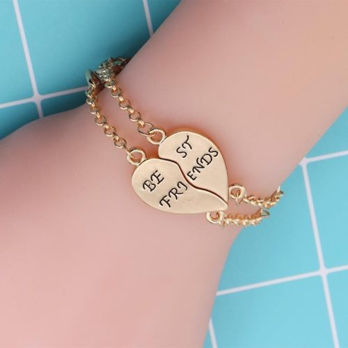 Best Friend Bracelets Puzzle Heart Jewelry