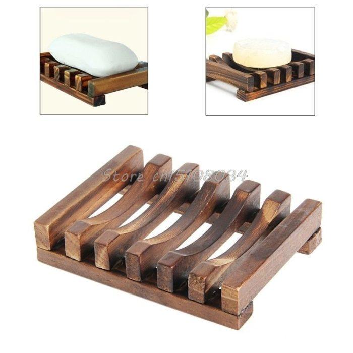 Soap Dish for Shower Wood Design