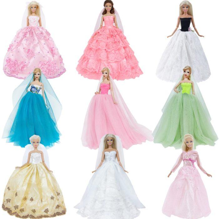 Doll Dress Wedding Gown Toys
