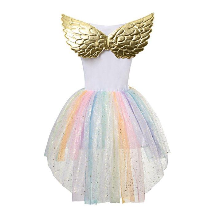 Kids Unicorn Costume Party Dress