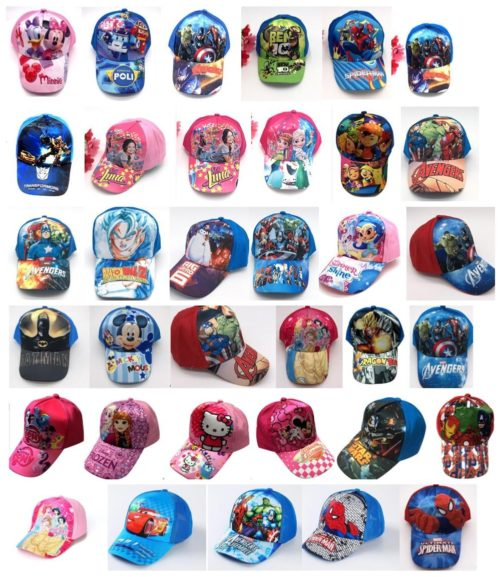 Kids Hats Cartoons Baseball Cap
