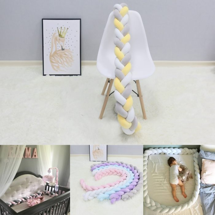 Long Pillow Colorful Braid Style