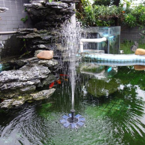 Solar Water Fountain Pond Decor