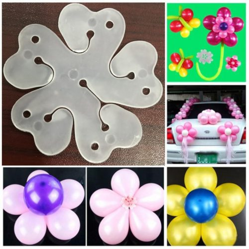 Balloon Flower Clips Closure