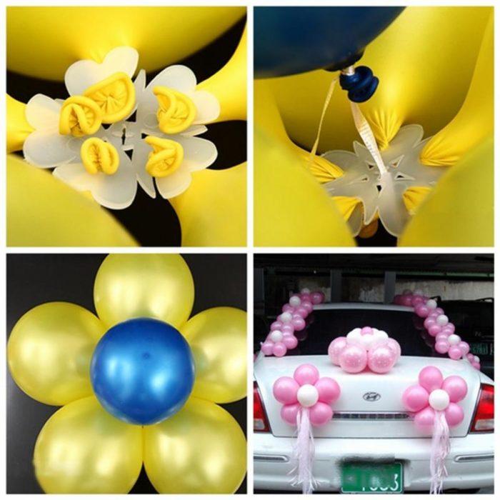 Balloon Flower Clips Closure