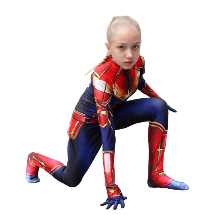 Captain Marvel Costume Bodysuit