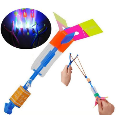 Rocket Copters Light-Up Slingshot Toys