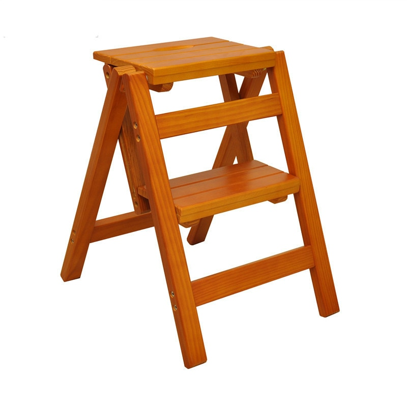 Folding Ladder Wooden Material Life Changing Products