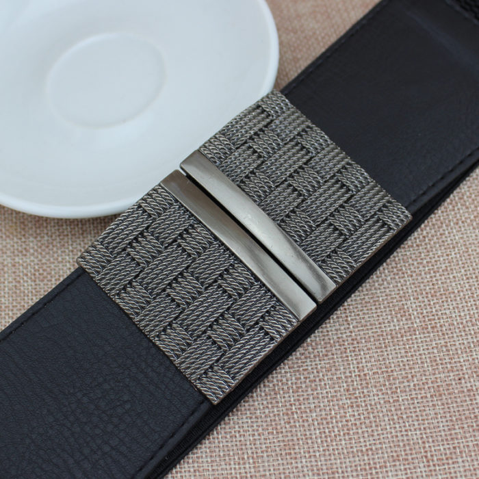 Women's Black Belt Elastic Waist Belt