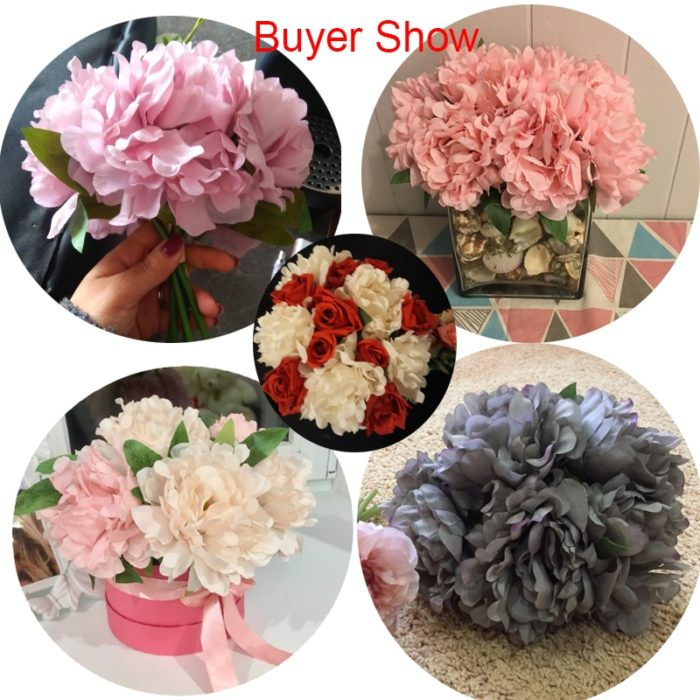 Silk Flowers Artificial Decoration (5 PIECES)