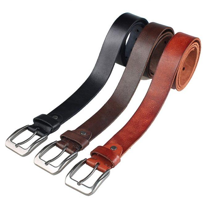 Leather Belts For Men Vintage Design