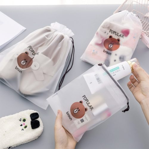 Clear Makeup Bag Drawstring Pouch