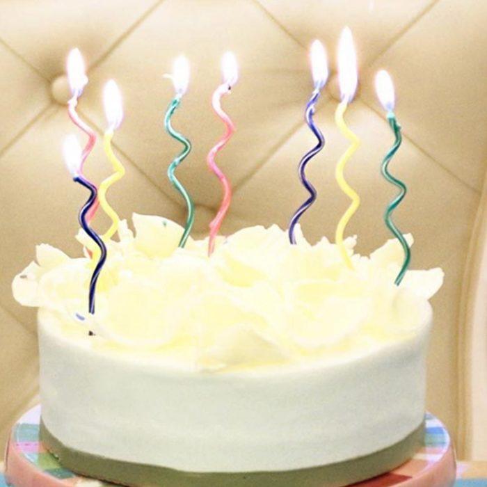 Birthday Cake Candles Spiral Design