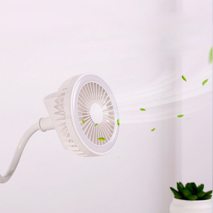 Clip On Fan Rechargeable with Lights