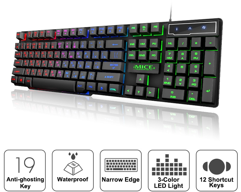 LED Keyboard Backlight Gaming Device