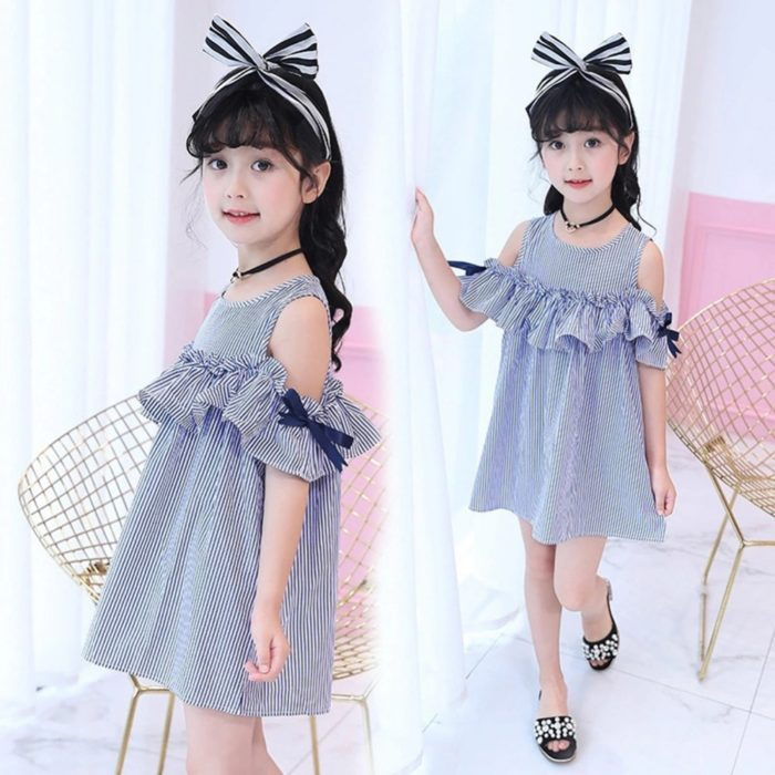Toddler Dresses Stripes Print