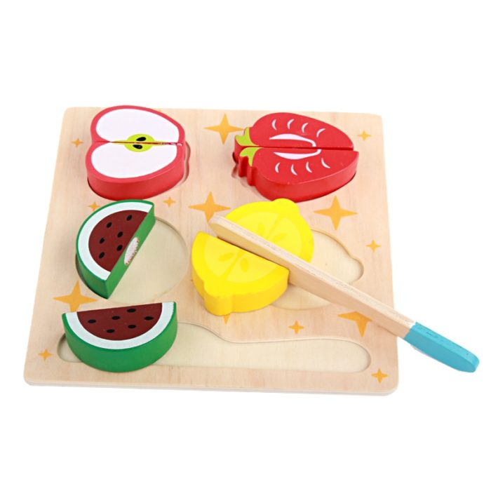 Wooden Play Food Cutting Veggies Fruits