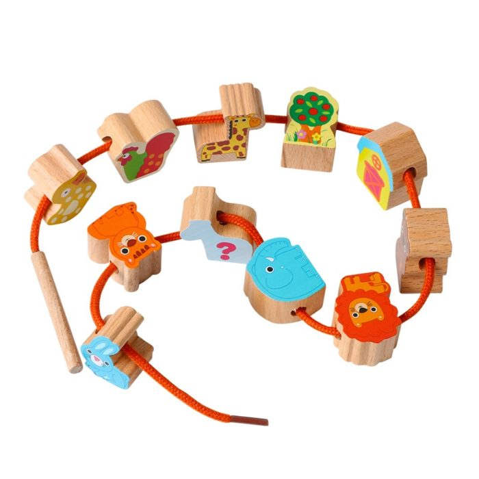 Wooden Beads Stringing Toys