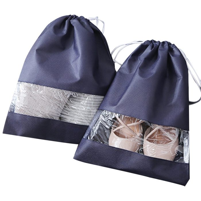 Shoe Travel Bag Drawstring Organizer