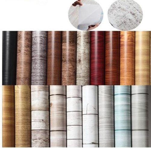 Self Adhesive Wallpaper Wood Designs