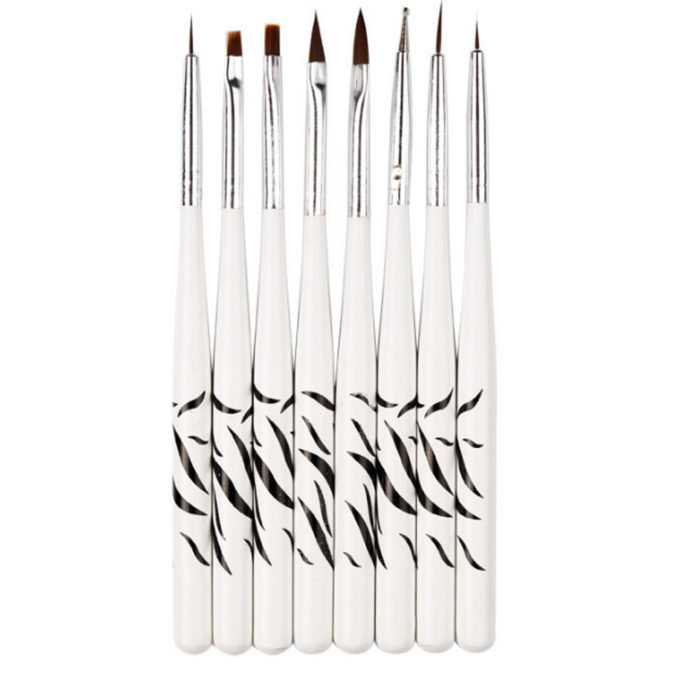 Nail Brush Manicure Painting Tips Set