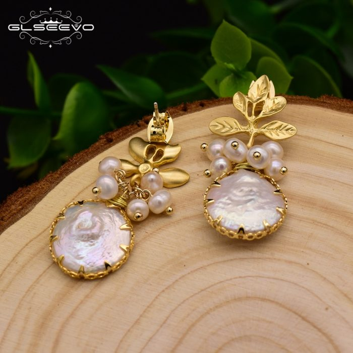 Pearl Drop Earrings Baroque Jewelry