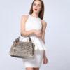 Leather Shoulder Bag Ombre Handbag