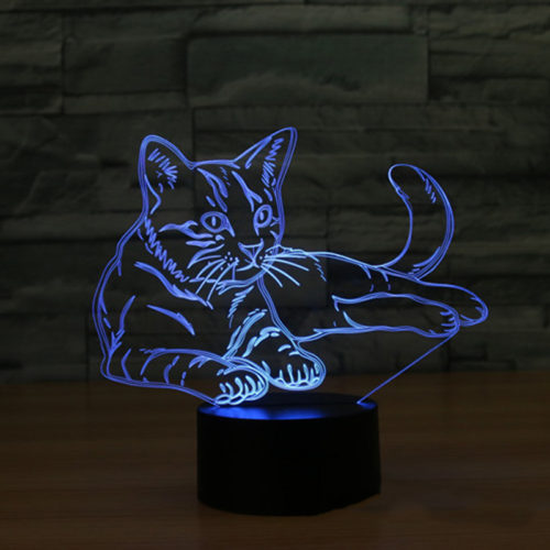3D Lamps LED Cat Design