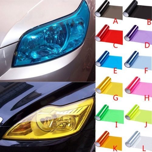 Headlight Tint Self-Adhesive Film