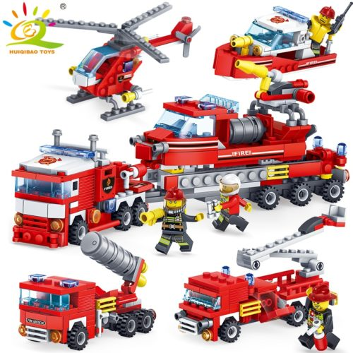 Lego Blocks DIY Fire Fighting Toys (348 pieces)