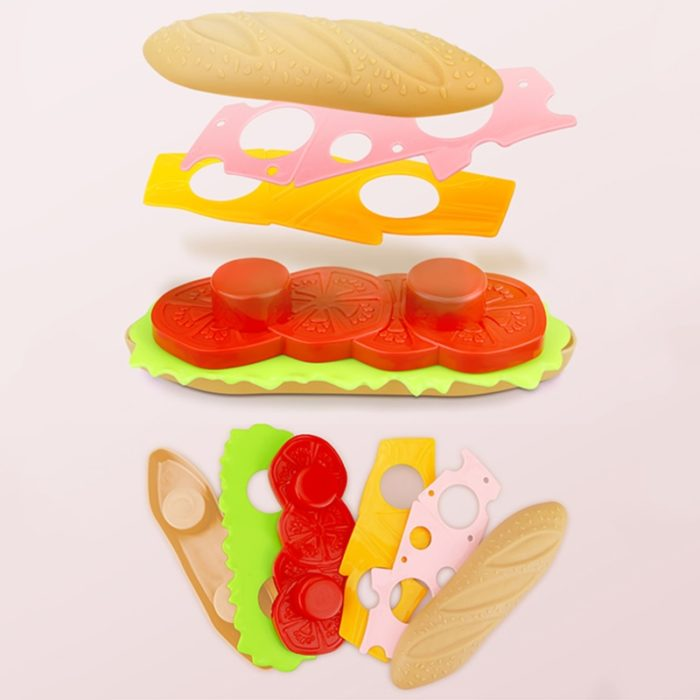 Play Food Sets Burger Fries Toys