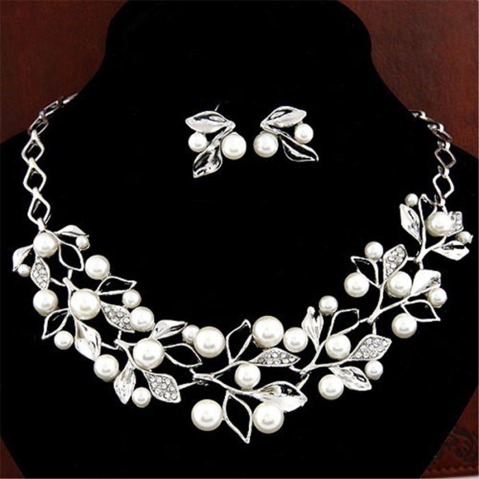 Bridal Jewelry Set Fancy Pearls