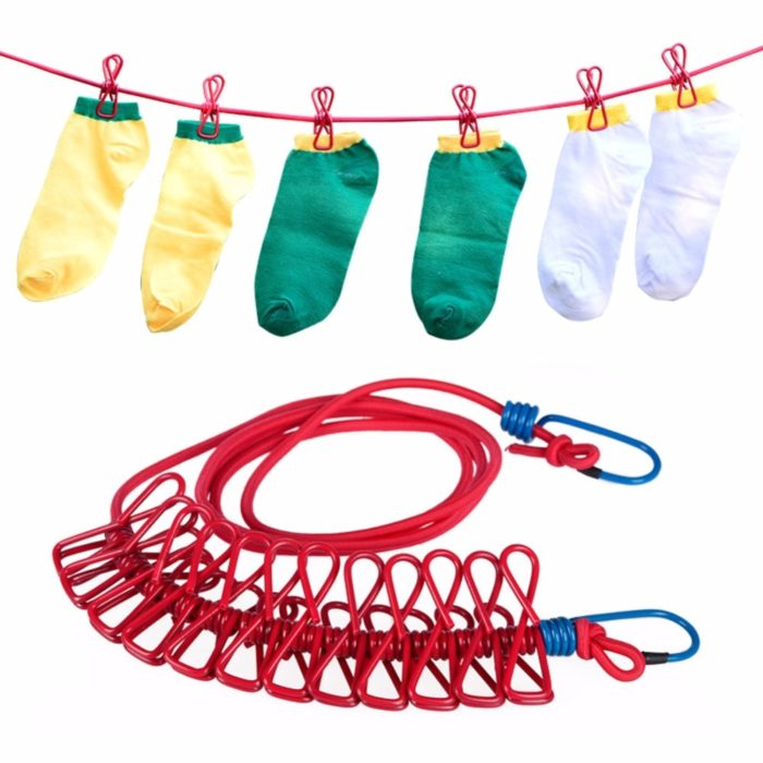 Portable Clothes Line Drying Pegs