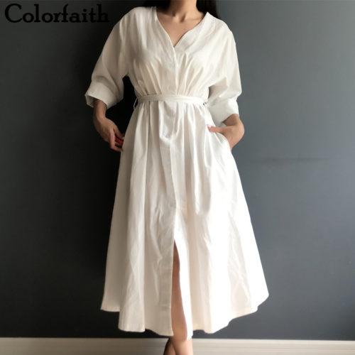 Linen Dress Women's Casual Wear