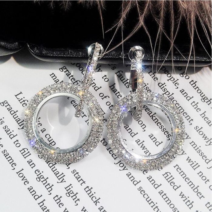 Stylish Earrings Ladies Crystal Jewelry