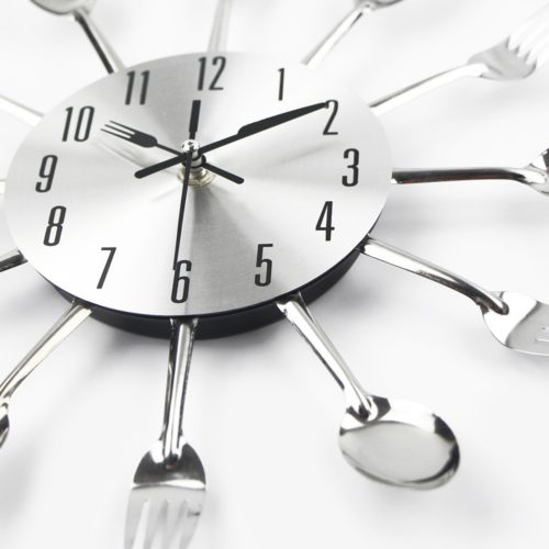 Kitchen Wall Clocks Cutlery Design