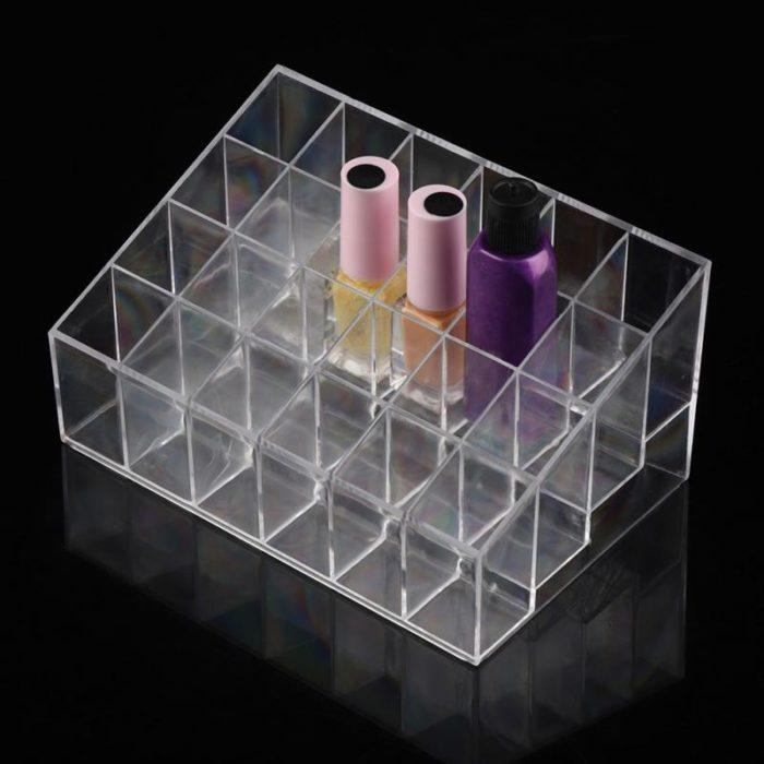 Lipstick Organizer 24-Grid Display Case